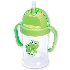 *babygo*DOOBY 大眼蛙神奇喝水杯200cc +DOOBY 大眼蛙神奇喝水杯補充吸管(2入)