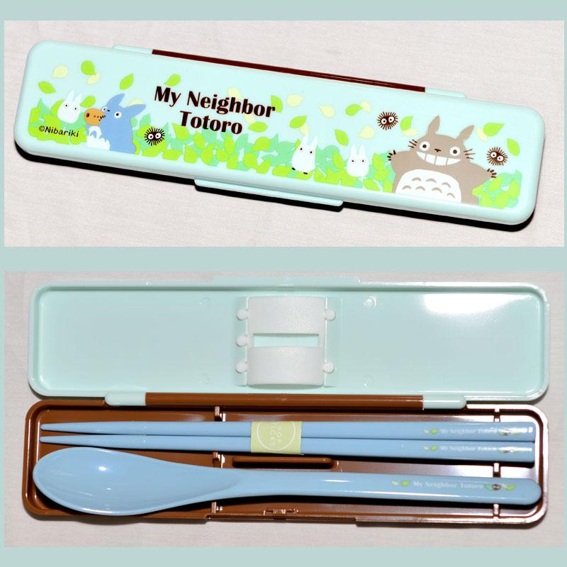 TOTORO 龍貓 無噪音餐具組 筷子湯匙組附保存盒 日本製 正版商品