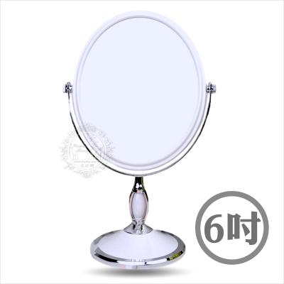 【雙面立鏡】橢圓精緻雙面旋轉立鏡-6吋 [49784]◇美容美髮美甲新秘專業材料◇