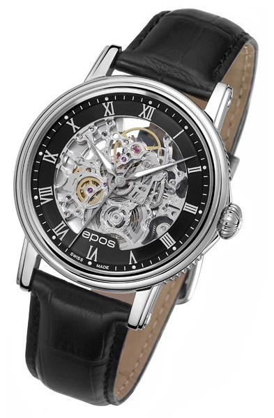 epos 愛寶時 3390.155.20.25.25 情感系列羅馬鏤空機械腕錶/41mm
