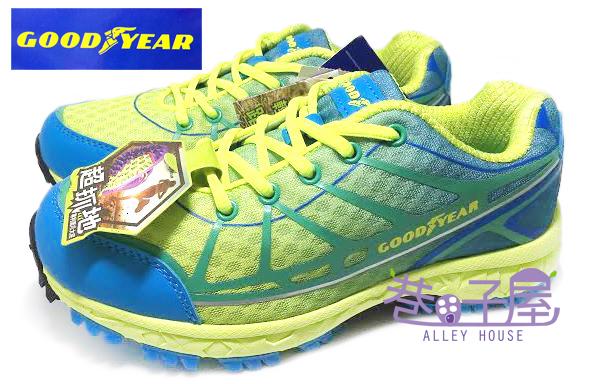 【巷子屋】GOODYEAR固特異 輕盈體驗 女款鷹爪漸層色彩輕戶外踏青運動跑鞋 [52006] 藍 超值價$590