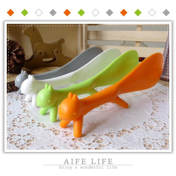 【aife life】B版松鼠立式飯勺/飛鼠飯勺/創意造型飯勺/不黏米飯勺/廚房用具/松鼠飯勺/婚禮小物/姊妹禮