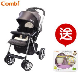 (預購2月到貨) 【本月贈$1300圍兜學習餐具組】日本【Combi】Mega Ride DX 嬰兒手推車-黑 (1~48個月)