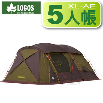 LOGOS 日本 | Premium金牌PANEL XL-AE 五人帳篷一房一廳 | 秀山莊(LG71805515)