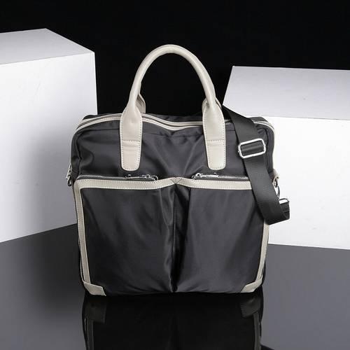【US.style】極輕量 防潑水 雙電腦袋 兩用托特包(休閒黑)
