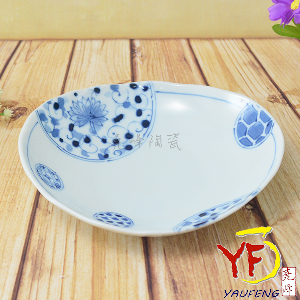 ★堯峰陶瓷★餐桌系列 日本美濃燒 6.25吋 伊萬里 橢圓盤 餐盤 盤子