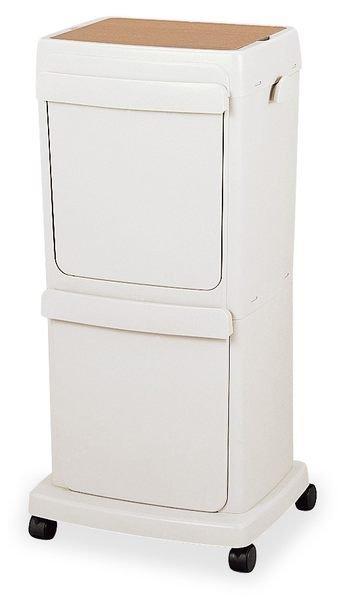 * 最新品上市*日本製*知名品牌TONBO 45L 上下二段可移動式 腳踏分類垃圾桶-日本熱賣中