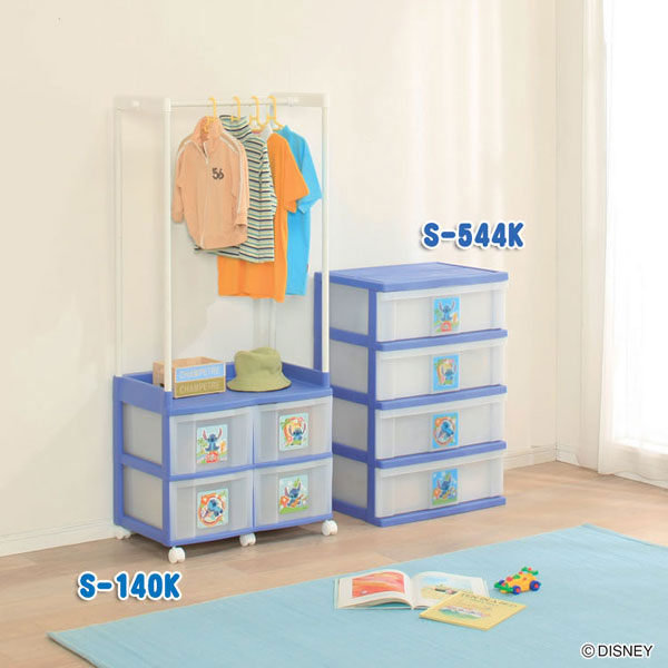 *網路最低價*日本製*日本知名品牌 IRIS 史迪奇 兒童小衣櫥 收納櫃+衣架-S-140K-免運