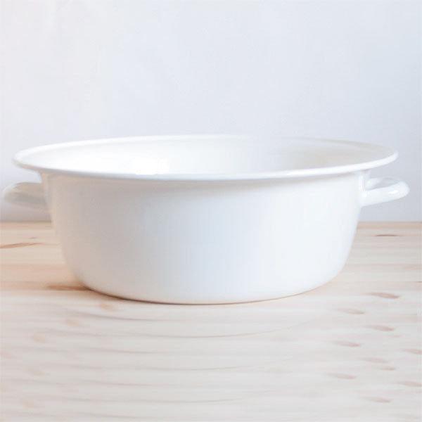 *新品上市* 日本製 野田琺瑯 純白 雙耳洗盆 ~網路最低價