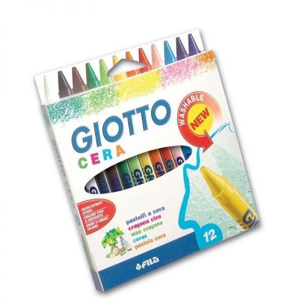 【義大利 GIOTTO】好清洗兒童隨身蠟筆(12色)