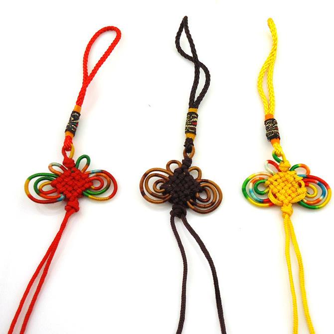 寬4cm 加大款 彩邊蝴蝶結中國結吊繩批發