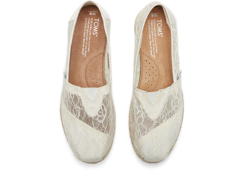 [女款] 國外代購TOMS 帆布鞋/懶人鞋/休閒鞋/至尊鞋 蕾絲系列 透花網紋 白