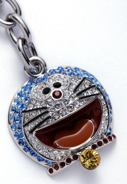 弘瀚科技Doraemon卡通授權*日本限定哆啦A夢小叮噹水鑽鎖扣吊飾