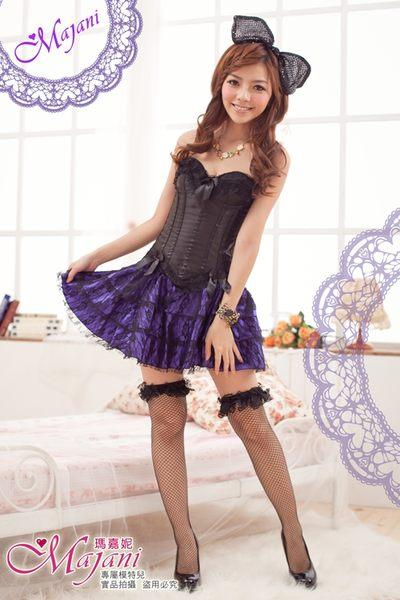 [瑪嘉妮Majani]日系中大尺碼-甜美澎澎裙 襯裙 搭配馬甲 長版衣 內搭 E款(紫) 特價329 可超取