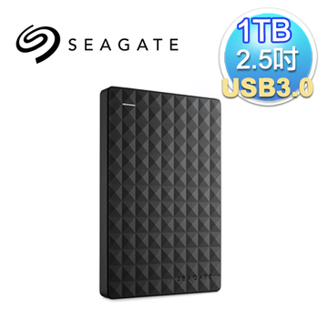Seagate 希捷 新黑鑽 1TB 2.5吋 USB3.0 外接式硬碟(STEA1000400)(7636490063428)