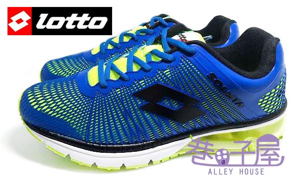 【巷子屋】義大利第一品牌-LOTTO樂得 RUNNING 男款KPU風潮紀念氣墊慢跑鞋 [1966] 藍 超值價$690