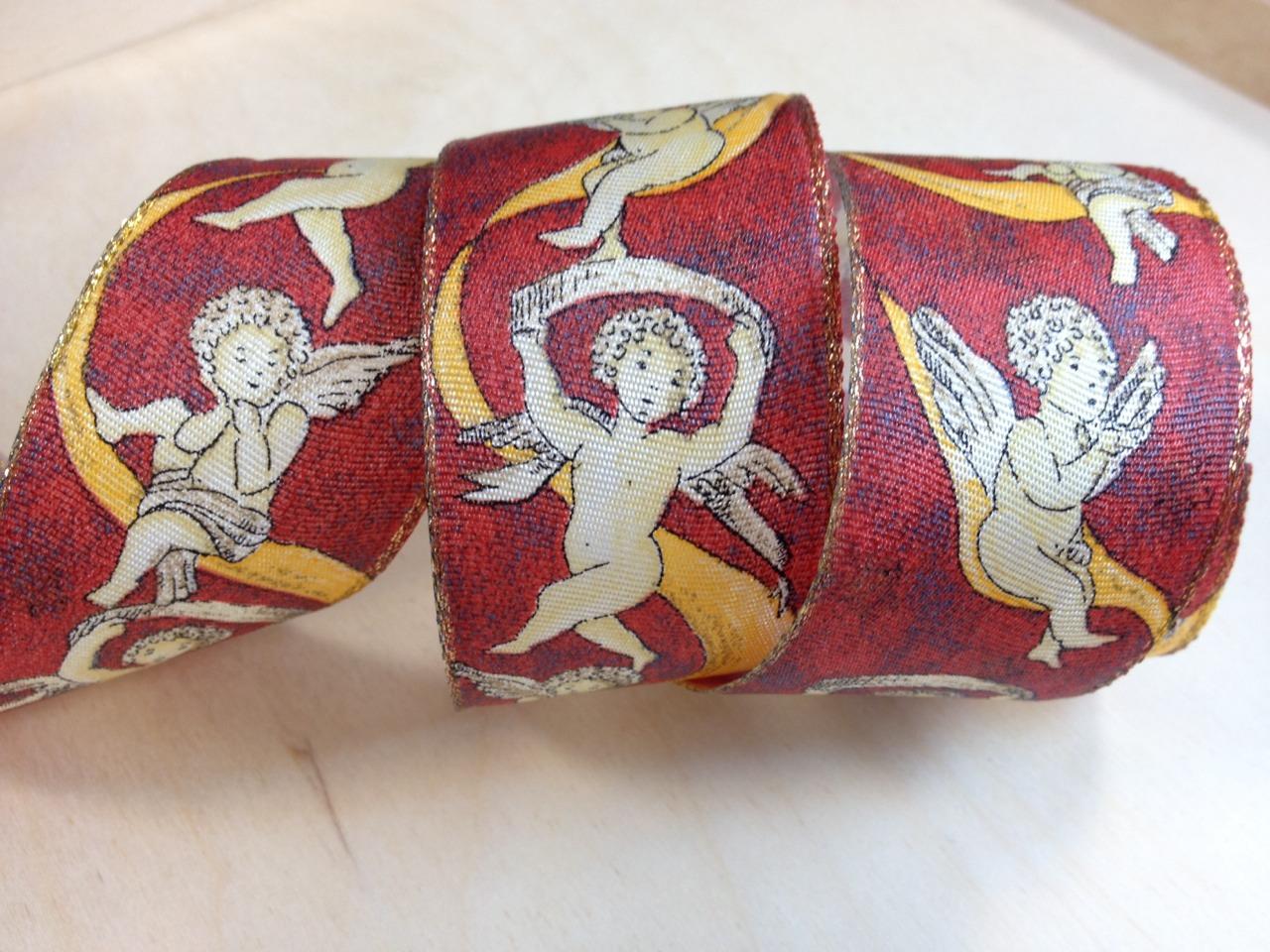 超級限量特價 文藝復興 天使畫作 限量珍品緞帶