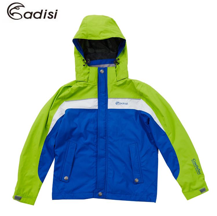 ADISI 童單件式可拆帽防水透氣外套AJ1521101(120~160) / 城市綠洲專賣 (防水.透氣.網布.保暖.機能性服飾)