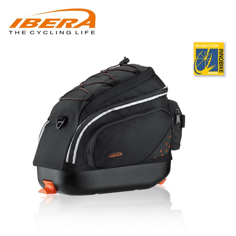 IBERA 摺疊車貨袋IB-BA12 / 城市綠洲(台灣製造.輕量化.自行車.腳踏車.反光飾孔.防潑水.快扣快拆)