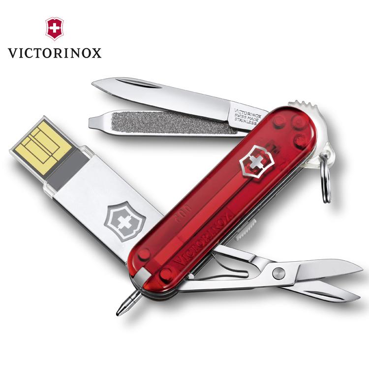 Victorinox work USB瑞士刀4.6125.TG16B/城市綠洲(透明紅、八大功能、USB容量16GB、瑞士刀)