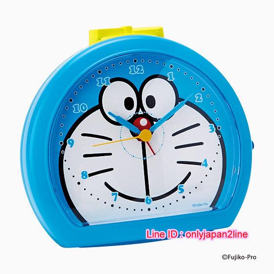 【真愛日本】16112600018 鬧鐘-DM半圓大頭藍 Doraemon 哆啦A夢 小叮噹 造型時鐘 鬧鐘