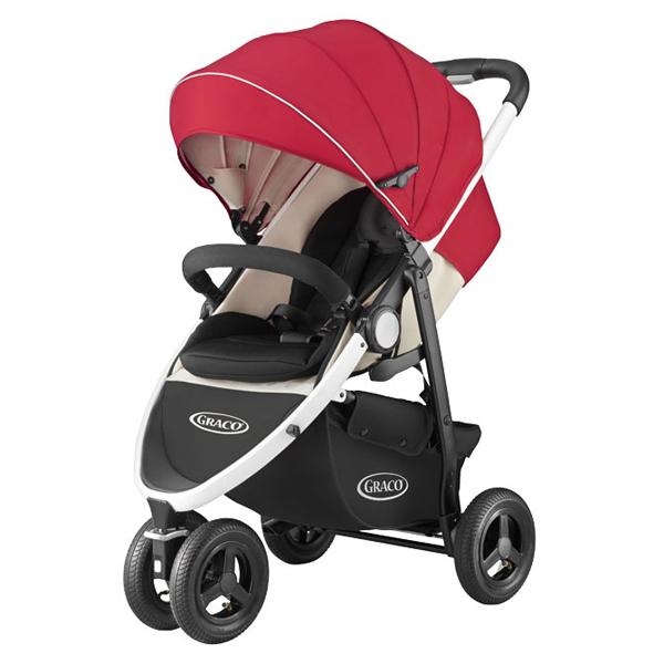 ★衛立兒生活館★GRACO 3W單向豪華型嬰幼兒手推車CITITREK(紅太陽)