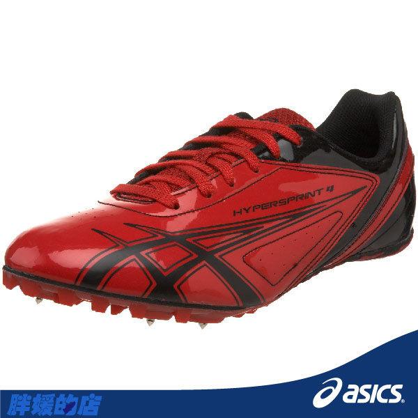 ASICS亞瑟士-HYPER SPRINT 4 田徑釘鞋(紅) 附5MM釘。(23/23.5號)G100Y-2390 胖媛快馬免運
