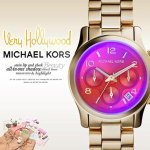 美國Outlet 美國正品代購 Michael Kors MK 粉橘漸變色系 玫瑰金 女錶 手錶 腕錶 MK5939