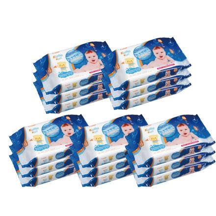 *babygo*康貝Combi 海洋深層水嬰兒柔濕紙巾(20抽*3包)5入組