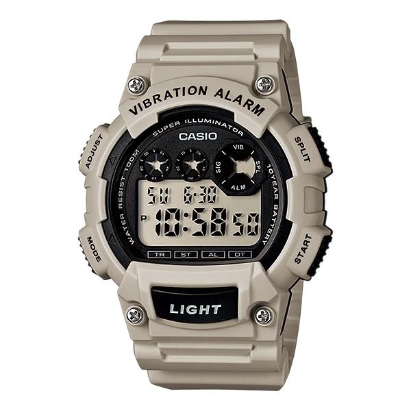 CASIO G-SHOCK W-735H-8A2數位10年電力腕錶/米47mm