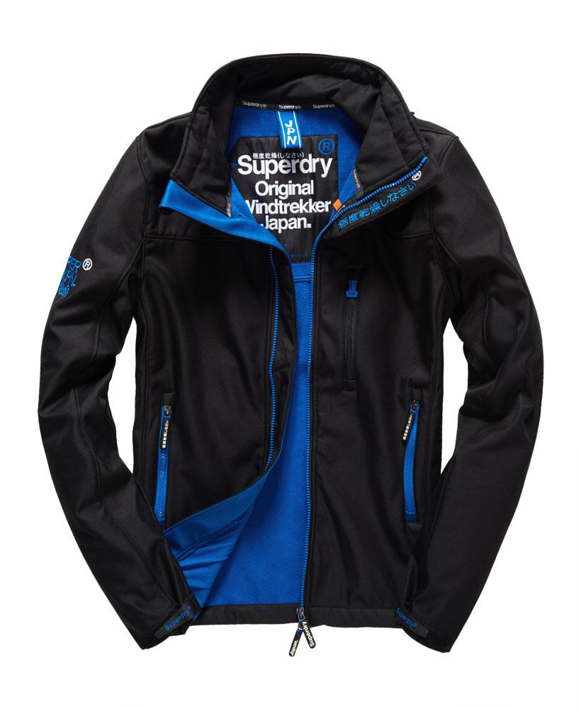 英國名品 代購 極度乾燥 Superdry Windtrekker 男士風衣戶外休閒外套 防水 黑色/寶藍色