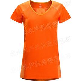 [ Arcteryx 始祖鳥 ] 12093 Kapta Shirt SS 女款 V領短袖快乾排汗衣 Tiger Lily 虎百合橘 Arc\