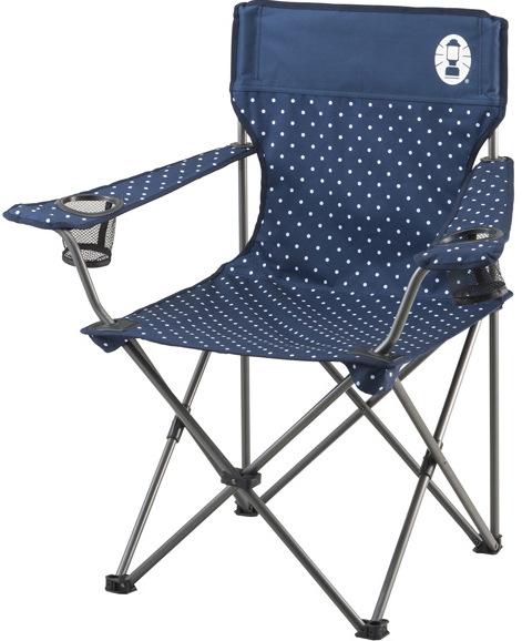 [ Coleman ] 圓點渡假椅/折椅/露營折疊椅 CM-26736 藍