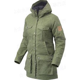 Fjallraven 瑞典北極狐 89259-620 綠 Greenland Parka W 女款 長版多功能復古獵裝大衣/軍裝風外套