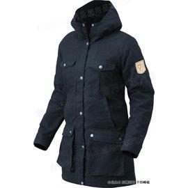 Fjallraven 瑞典北極狐 外套/風衣外套 Greenland 長版獵裝大衣/軍裝外套 女 89259-555 暗深藍