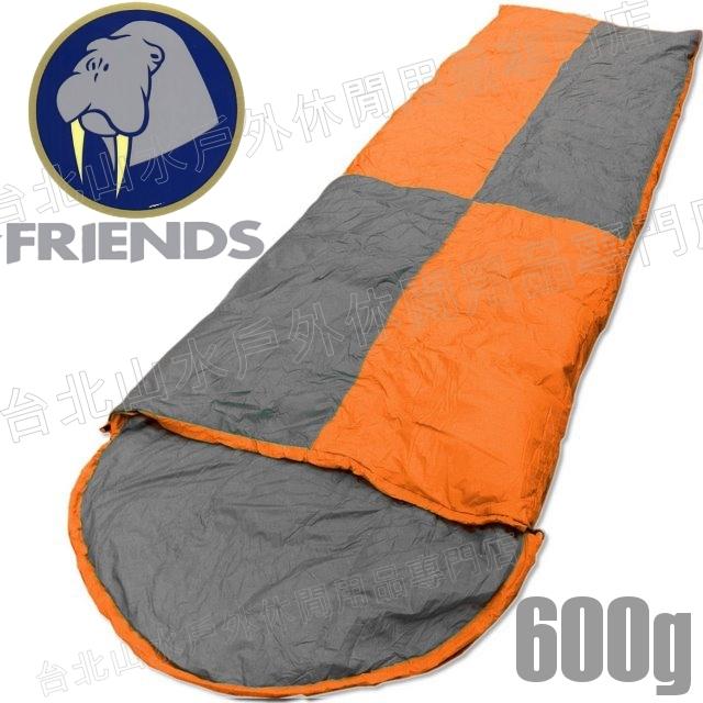 [ Friends ] 羽絨睡袋/露營睡袋 台灣製 600g信封型 SD-406 橘