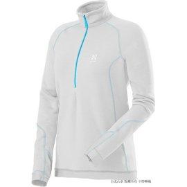 [ HAGLOFS ] Bungy II Q Top 瑞典 彈性保暖刷毛上衣/保暖中層衣/Polartec Power Stretch/女款 602247-2C4 棉花白