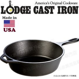 [ Lodge ] 深型鑄鐵煎鍋/26cm2.8升 鑄鐵鍋/荷蘭鍋/煎炒鍋/萬用平底鍋 L8DSK3 Deep Skillet 美國製