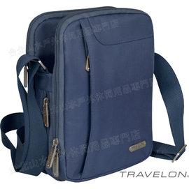 TRAVELON 雙主袋肩包/旅遊防盜肩包/防盜鋼網/防搶/出國旅遊 TL-42727 藍 旅行用品/台北山水