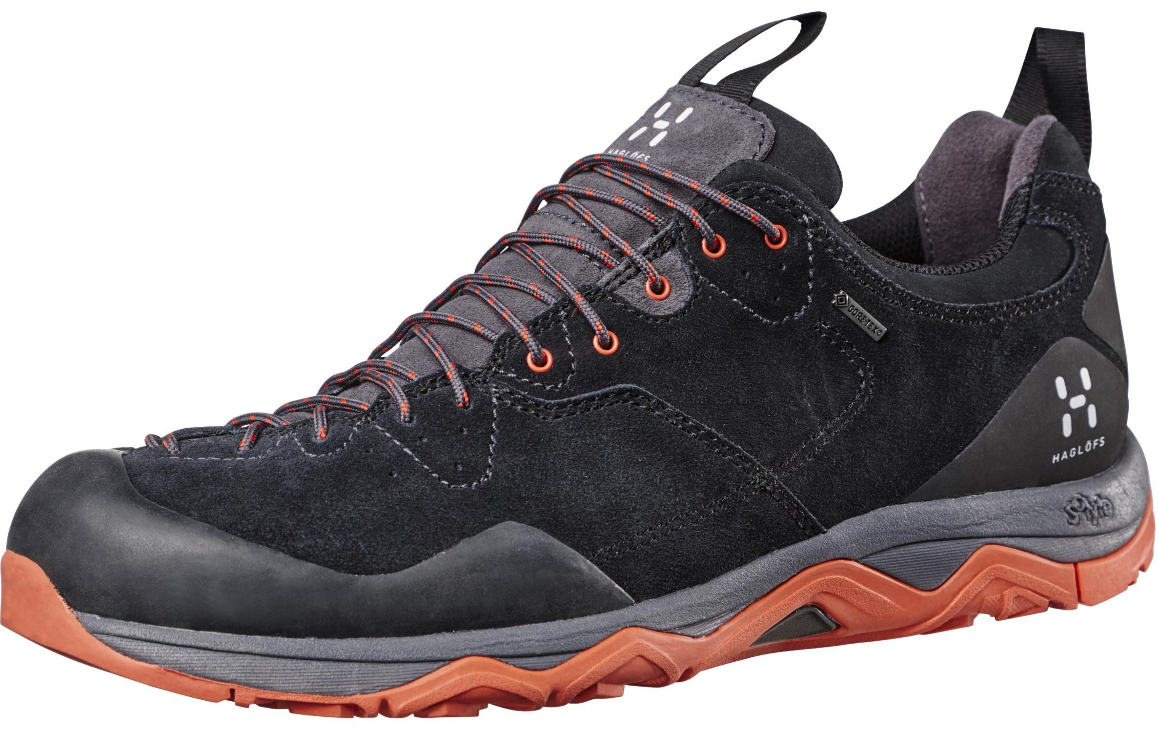 HAGLOFS 休閒鞋/登山鞋/防水健行鞋Rocker Leather GT 瑞典 男款Gore-tex鞋 491660-2FA 鋼琴黑/火焰紅