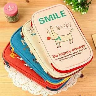 =優生活=韓國文具 可愛輕鬆派動物大容量多功能創意筆袋 收納袋 化妝包