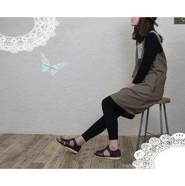 滿700再折$100 [Lace孩]日本森林系棉麻風琴摺花邊領兩面穿背心洋裝 - 御聖願