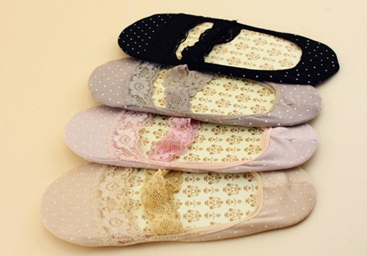 中大尺碼 [淡雲] 超薄襪竹纖維隱形襪蕾絲花邊淺口短襪 - 御聖願【全店單件免運,單筆滿700再折100元】
