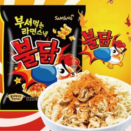 有樂町進口食品 韓國 三養火辣雞肉 點心麵 單包 科學麵 點心麵 辣雞肉麵 辣雞麵 火辣雞麵 乾麵 進口泡麵