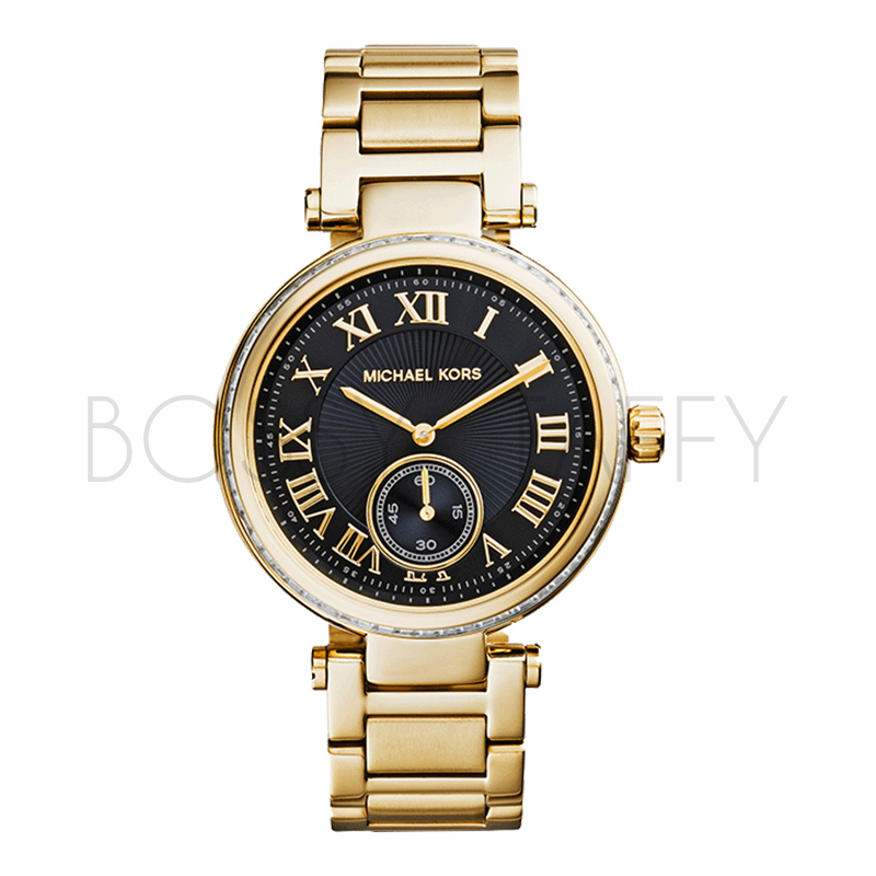 MK5989 MICHAEL KORS 經典時尚大錶盤不銹鋼錶帶 石英手錶 女錶