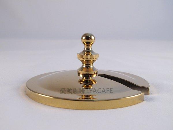 《愛鴨咖啡》比利時咖啡壺 零件 玻璃杯蓋-金色