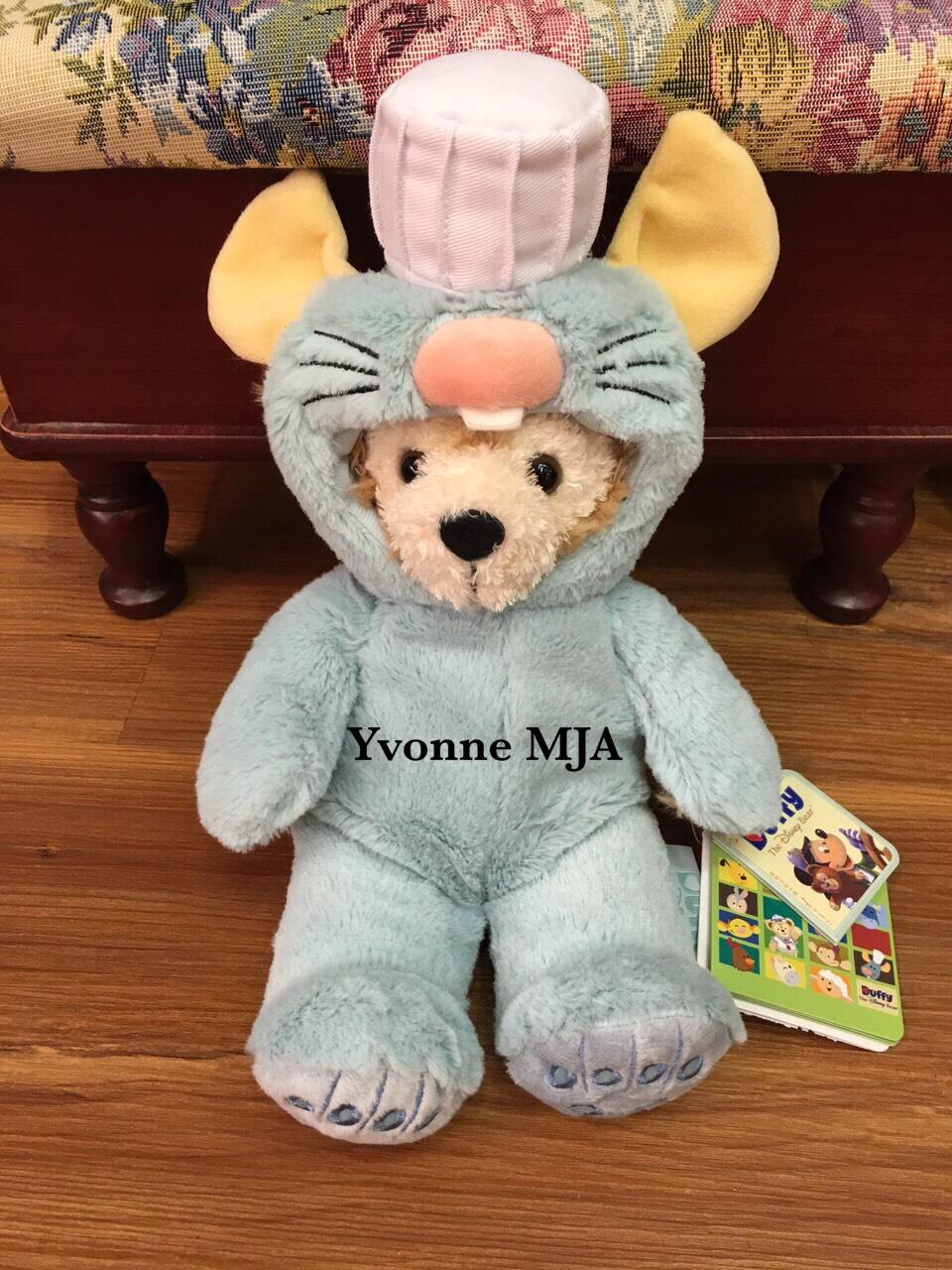*Yvonne MJA上海代購*上海迪士尼樂園限定正品Duffy達菲熊料理小老鼠造型SS號娃娃