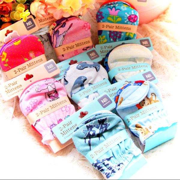 EMMA商城~(一組2入)歐美外貿嬰兒保暖純棉寶寶防抓手套