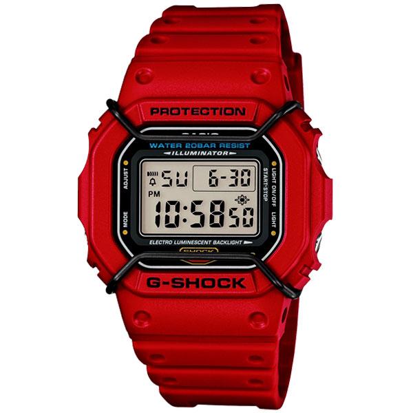 CASIO G-SHOCK DW-5600P-4DR簡約流行數位腕錶/42.8mm