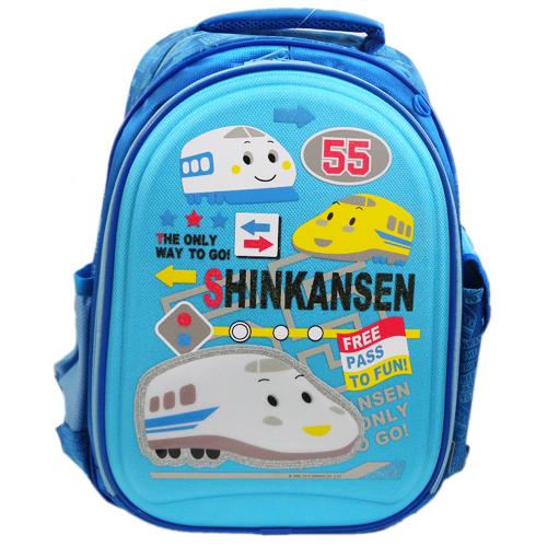 【真愛日本】15071500005後背書包S-閃亮新幹線藍 三麗鷗家 ShinKanSen 藍色新幹線 背包 書包